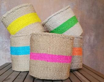 RANGI: Handmade, Basket, Sisal Baskets, Storage baskets