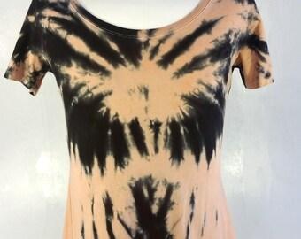 Tie-dye T-shirt, Womens 2XL, Scoop collar, Spider