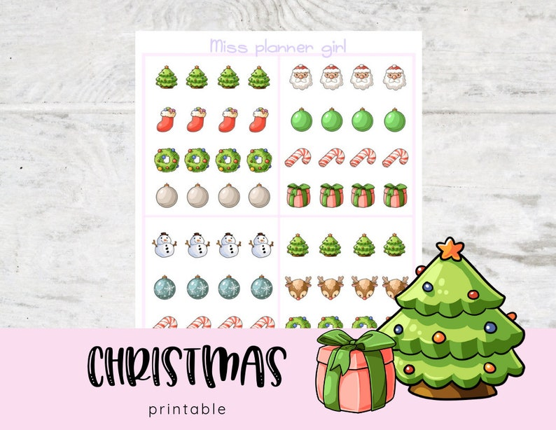 image about Printable Christmas Stickers referred to as Printable Xmas Stickers, Kawaii, Adorable Stickers, Cartoon, Doodle, Case in point, Clipart.