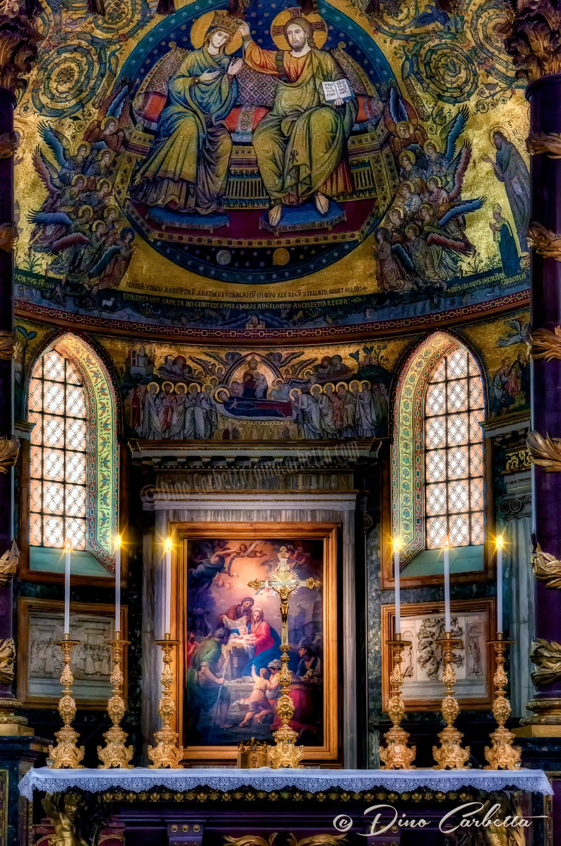 Museum-Grade Canvas Gallery Print The high altar of the Papal Basilica of Santa Maria Maggiore in Rome