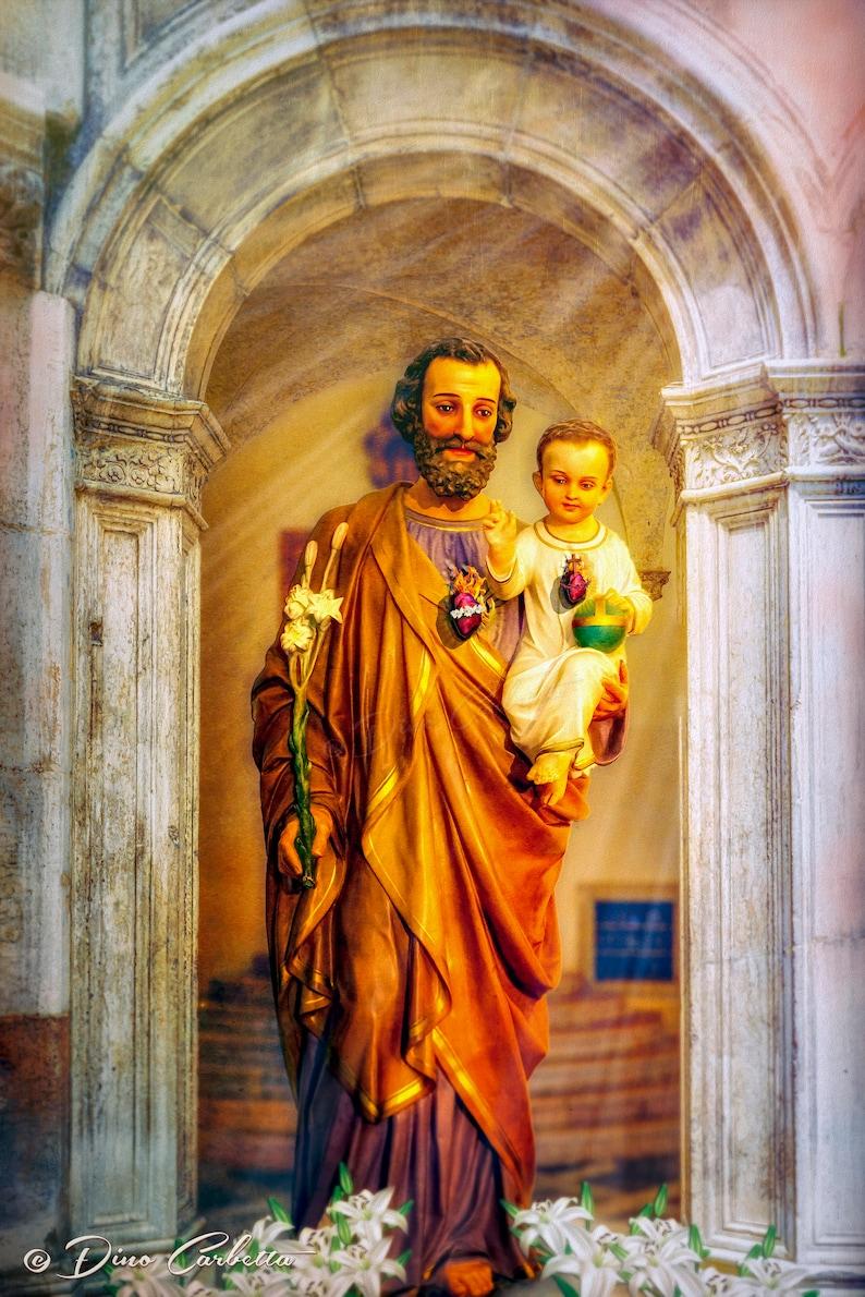 Saint Joseph and Baby Jesus  Santa Maria Maggiore in Assisi image 0