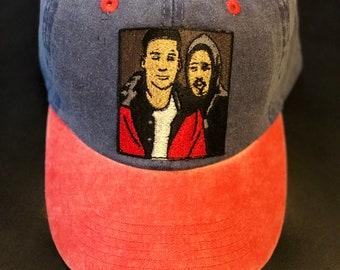 d72ba069b9871 Blue   Red Custom Tupac in Juice Dad Hat