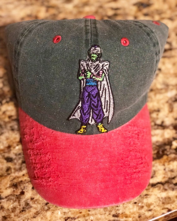 d98dbb4aeb9 Green   Red Custom Piccolo Dad Hat