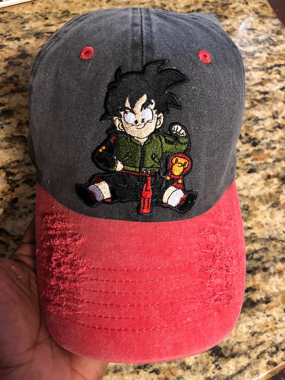 ed19f80d0a4 Black   Red Custom Goku Bape Dad Hat