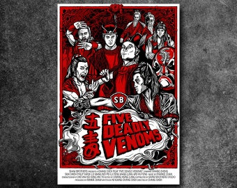 "Five Deadly Venoms Fan Poster (18"" x 24"")"