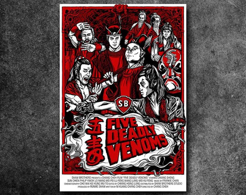 Five Deadly Venoms Fan Poster 18 x 24 image 0