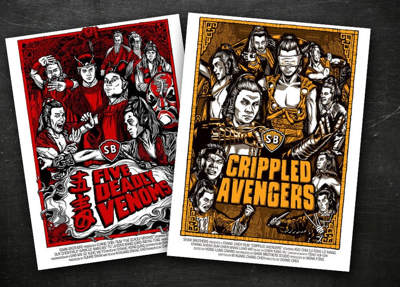 Shaw Brothers Venom Mob Fan 2 Poster Combo  18 x image 0