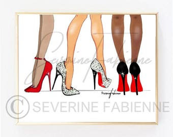 DOWNLOAD TO PRINT illustration/ Louboutin A4 Size