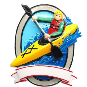Canoe Ornament Personalized Canoeing Ornament Gift for Kayaker,Lake Camping 2.5x3.75 Custom Kayak Ornament Kayaking Christmas Ornament