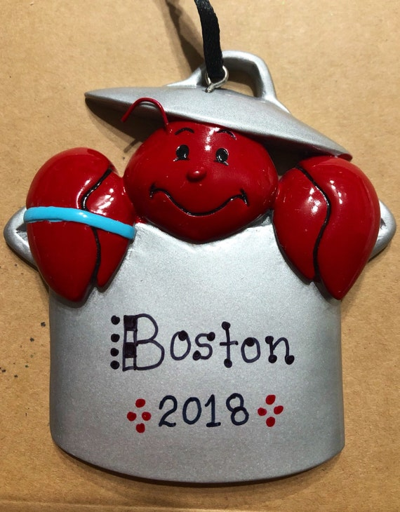 Lobster Pot Personalized Christmas Tree Ornament