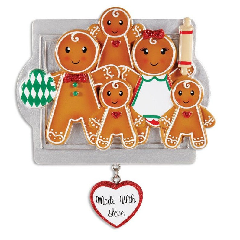 Made with Love Family Of 5 Personalized Christmas Ornament