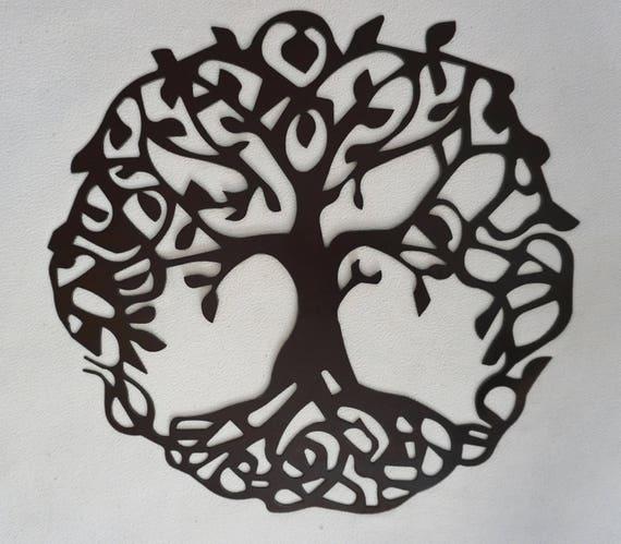Plasma Cut Tree Of Life//Wall Art//Steel Art//Metal | Etsy