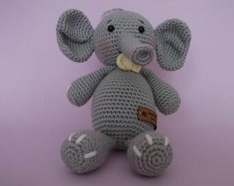 Amigurumi crochet elephant - handmade toy
