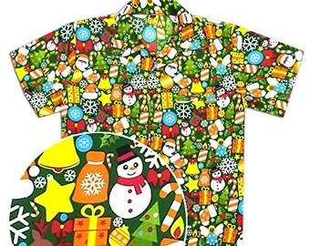 b6100a55 Hawaiian shirt Men's Christmas holiday party santa xmas print gift
