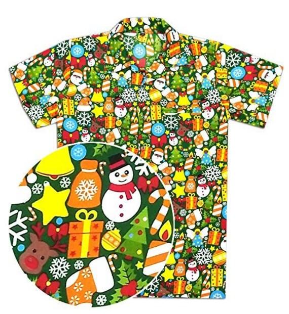 Christmas Hawaiian Shirt.Hawaiian Shirt Men S Christmas Holiday Party Santa Xmas Print Gift