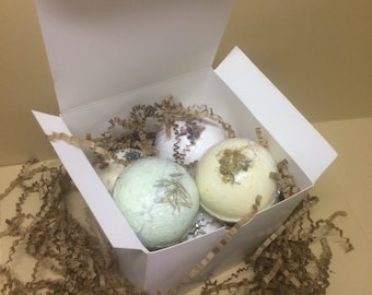 Vegan bath bomb set