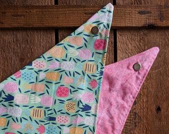 Pineapple Dream | Dog Bandana, Tie & Snap Bandana, Snap Bandana, Dog Scarf, Petwear, Pet Bandana, Dog Accessories, Tie Pet Bandana