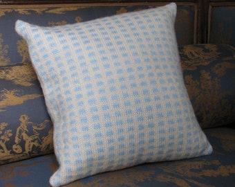 Cushion hand knitting, Collection Praline, wool, home decor, decorative art, cushion, unique piece