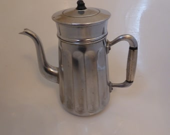 Mid century chrome French vintage coffee percolator pot