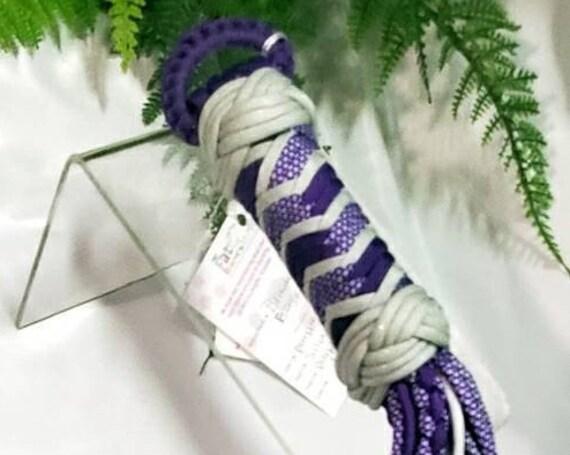 RTS Purple love Braided flogger