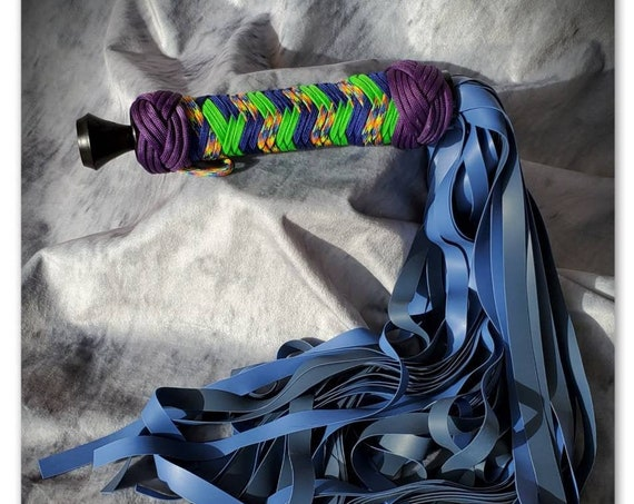 RTS- Blue Jawbreaker latex flogger
