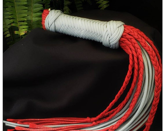 Ready to ship- kinderkink red/grey flogger