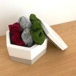 Box - Pot - jewelry box - storage - cement - concrete box