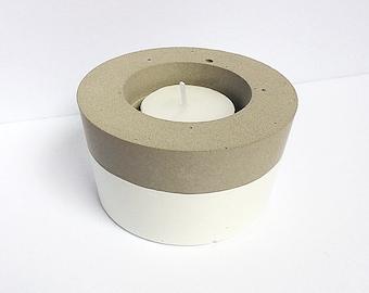 Bougeoir - Bougie - Bougeoir en ciment - Pots - Pot en ciment - Pot en béton