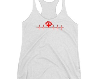 777d95679d3f Lifeguard Men Women Heartbeat Tank Top Novelty Lifeguard Tank