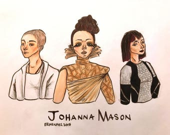 Johanna Mason from The Hunger Games, 8x10 Print