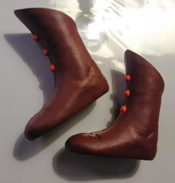 DAREDEVIL brownred BOOTS custom Captain Action 1966 16 Ideal action figure