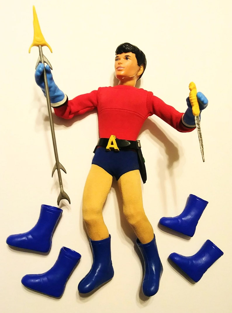 AQUALAD BOOTS Captain Action Boy replica 1966 Batman 16 action figure