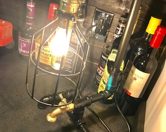 Hand crafted pipe light with bulb!