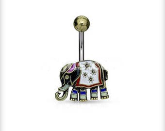 Antique Elephant Belly Ring