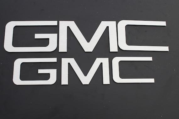 Black 2013 GMC Sierra red letter emblem replacement kit