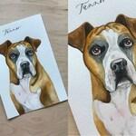 CUSTOM Watercolor Pet Portrait, Pet Gift, Dog or Cat Portrait