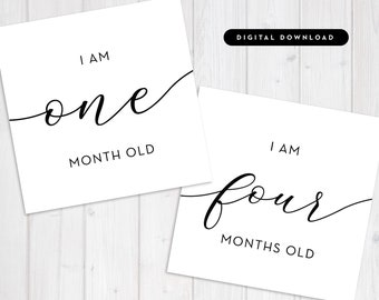 """Modern Minimal Baby Milestone Cards Photo Prop 