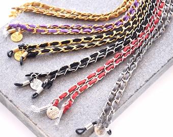 5b57c7094efa7 Chanel Type Sun Glasses Chain for Women