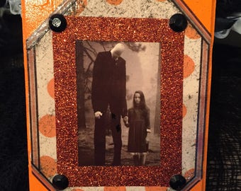 Slender Man Halloween Plaque