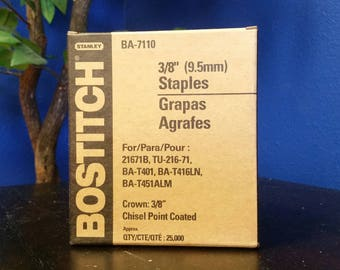 "Bostitch 25,000pc 3/8"" staples"