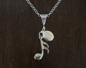 Sterling Silver REJOICE Pendant Necklace