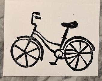 5 Black Bike Blank Card and Envelopes