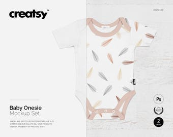 Download Free Baby Onesie Mockup Set, Baby Outfit, Personalised Baby Onesie, Baby Bodysuit, Custom Onesies, Custom Text, Kids Clothes, Toddler, Unisex PSD PSD Template