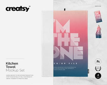 Download Free Kitchen Towels Mockup Set PSD Template