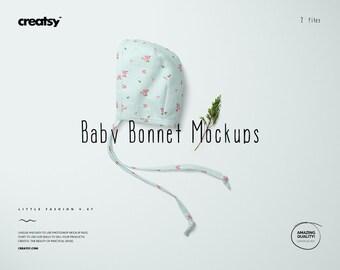Download Free Baby Bonnet Mockup Set PSD Template