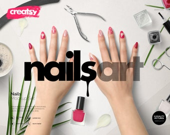 Download Free Nails Mockup Set, Nails Art Template, Hand Nails, Feet Nails, Manicure Mockup, French Manicure Template, Nail Polish, Nail Mockup, PSD PSD Template