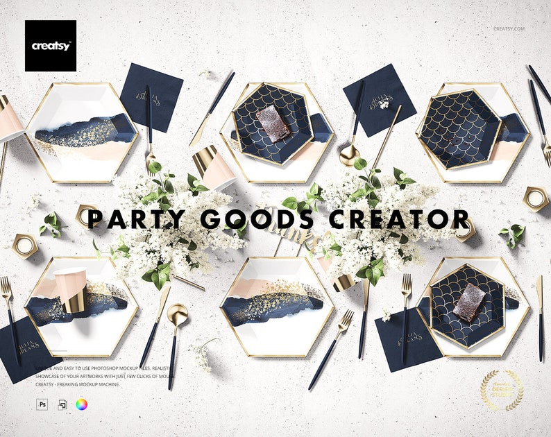 Party Goods Creator Mockup Set image 0