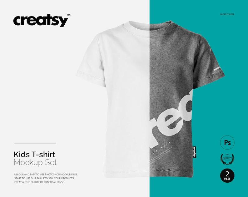 Kids T Shirt Mockup Set Shirt Template Custom Kids Top Etsy