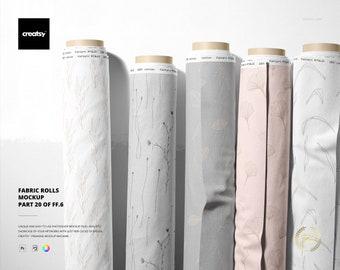 Fabrics Rolls Mockup (part 20 of Fabric Factory v.6)