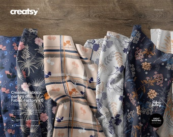 Creased Fabrics Mockup (part 79 of Fabric Factory v.6)
